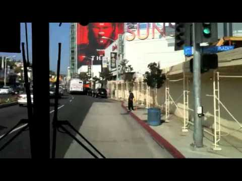 Los Angeles bus: Santa Monica - Downtown LA