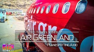 【4K】FLIGHT FOOTAGE: «Air Greenland A330-200 Landing in Nuuk (Capital of Greenland)» 2018-05-25
