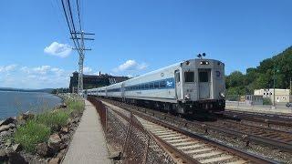 Metro North & Amtrak Railfanning at Scarborough / Lots of Horns (Read Desc)