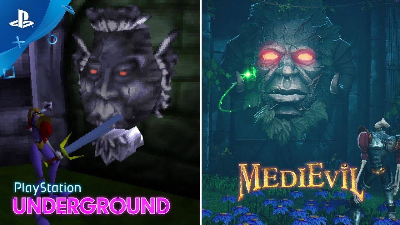 MediEvil – 1998 vs. 2019 Gameplay Comparison | PlayStation Underground