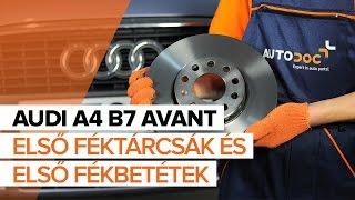 AUDI A4 Avant (8ED, B7) hátsó és első Fékbetét szerelési: ingyenes videó