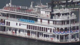 琵琶湖に春の到来を告げる風物詩「びわ湖開き」が12日あり、大津市の...