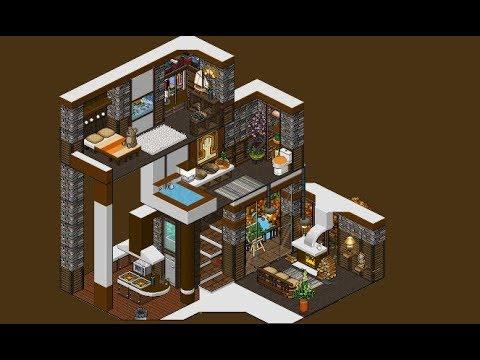 Habbo casa de 3 pisos minimalista youtube for Casas en habbo