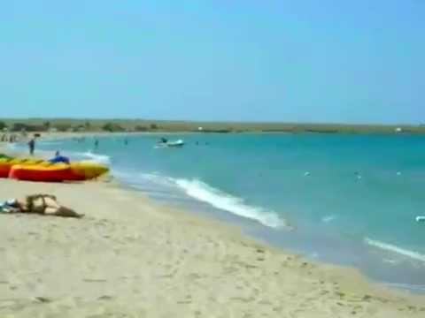 Крым Оленевка Тарханкут песчаный пляж