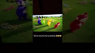 Teletubbies dancing to Walk It Talk It by Migos, Drake
