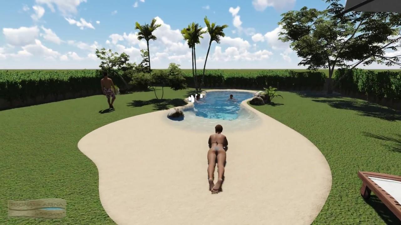 Diseo 3D para la construccin de una piscina de arena