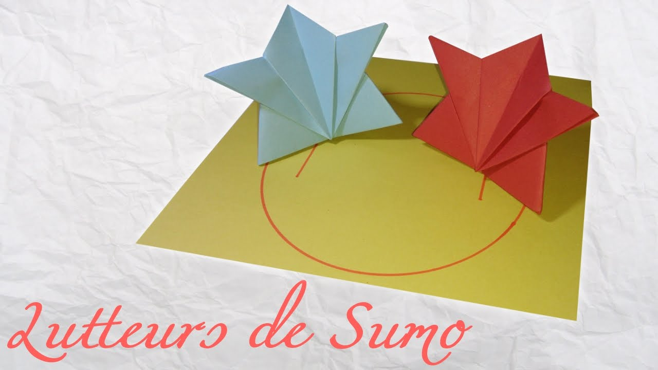 Origami jeu de lutteurs de sumo youtube how to make a paper game of sumo diy easy and fast for a cool game jeuxipadfo Images