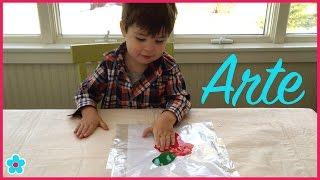 Arte y Actividades Para Niños| Actividades y Manualidades con Pintura-Sin Desastre|| Toda Mamá