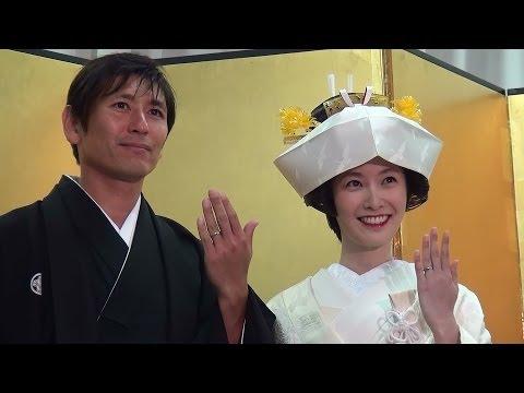 中田浩二 長澤奈央 美し過ぎる結婚お披露目会 超絶風流な「宵の嫁入り舟」