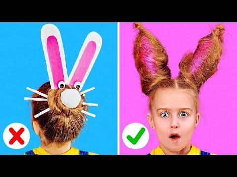 КЛАССНЫЕ И ПРОСТЫЕ ИДЕИ ДЛЯ ПРИЧЕСОК || Крутые прически для длинных волос от 123Go! Play!