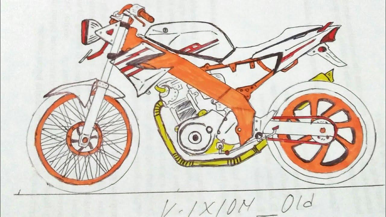 Gambar Drag Vixion Old Npl Tutorial Cara Menggambar Viksen Youtube