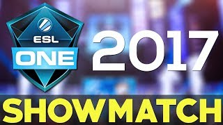Esl One Showmatch Nyc 2017 Fan Team A Vs Fan Team B