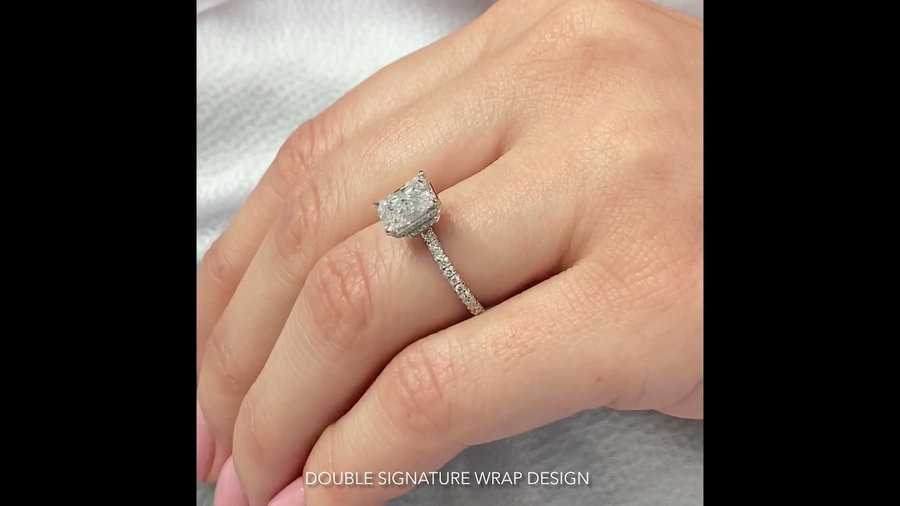 Double Signature Wrap Engagement Rings