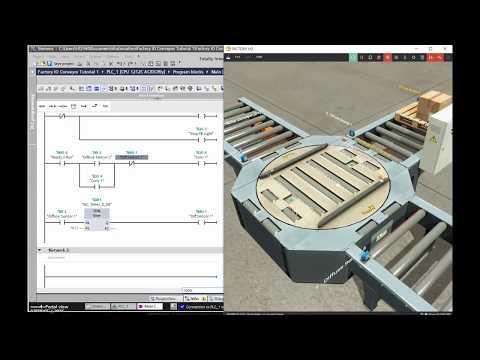 Siemens TIA Portal & Factory IO (Creating the PLC Program for Conveyor Sequence, Siemens S7-1200)