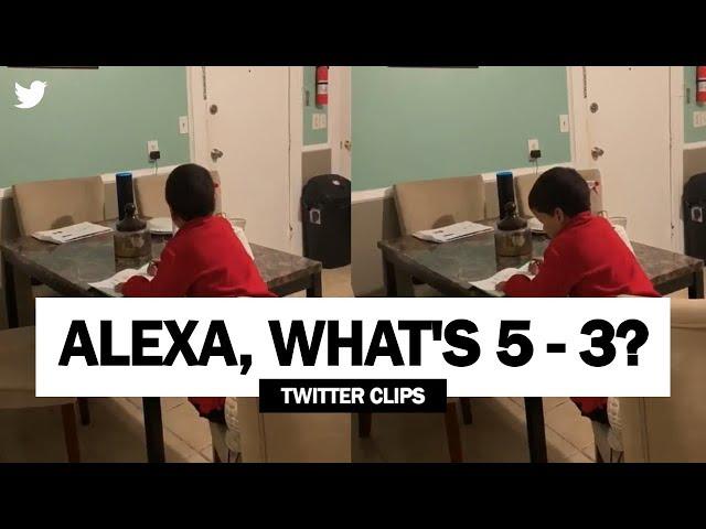 Alexa, What's 5 – 3? | Alexa Doing Homework For This Little Boy (Viral on Twitter)