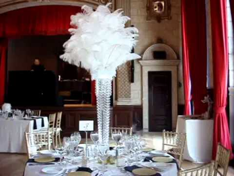 Great Gatsby 1920s Themed Wedding Centerpieces at The Italian Academy NYC  YouTube