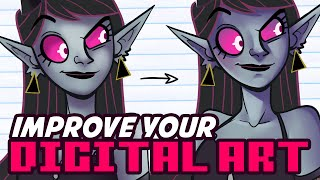 3 Tips for Improving your Digital Art ⭐️Better Lineart, Shading and Colors