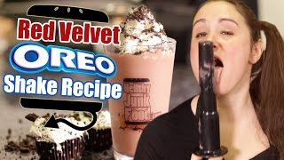 Red Velvet Oreo Milk Shake Recipe Remake  |  Hellthyjunkfood
