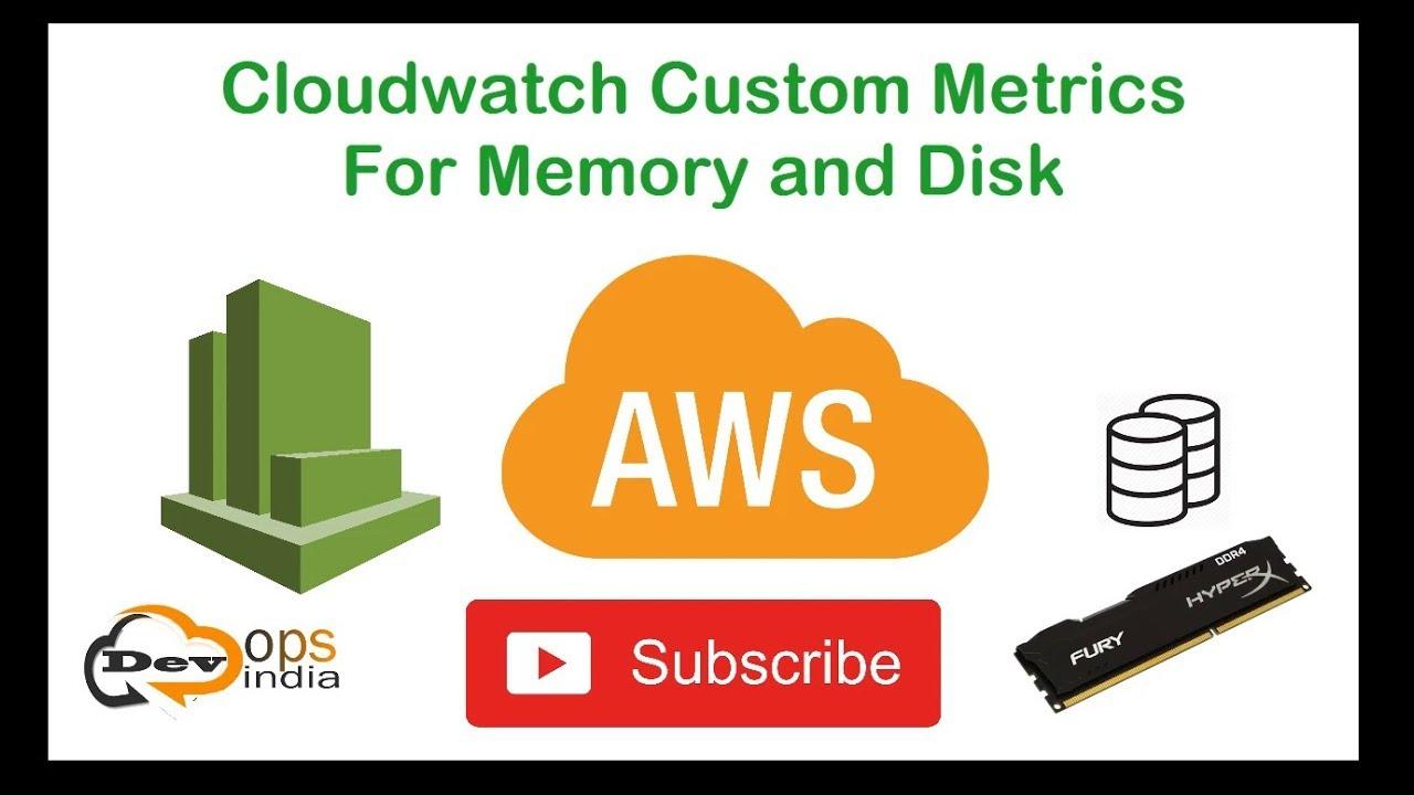 AWS - CloudWatch Custom Metrics for Memory usage and Disk usage