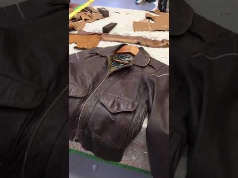 Leather jacket repair