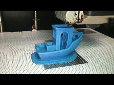 AzureFilm ABS-P Filament printing with Zortrax