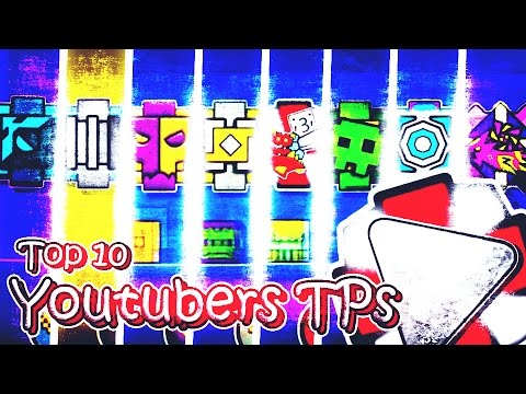 TOP 10 YOUTUBERS TEXTURE PACKS PARA GEOMETRY DASH 2.1 L ANDROID & STEAM L