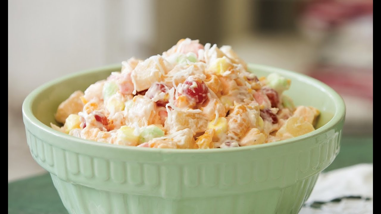 Sweet Ambrosia Salad - YouTube