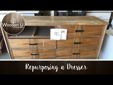 Repurposing a Dresser - Wooden U