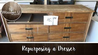 Repurposing a Dresser - Wooden U