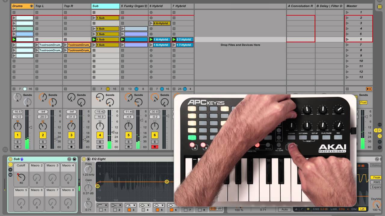 akai professional apc key 25 demo features and operation in ableton live youtube. Black Bedroom Furniture Sets. Home Design Ideas