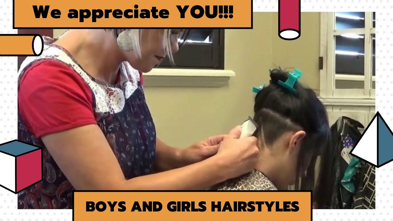 Modern Undercut Women Hairstyle Nape Shave Haircut Women