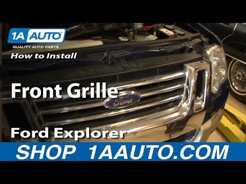How To Replace Front Grille 06 10 Ford Explorer And Sport Trac
