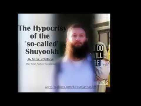 The hypocrisy of the shuyuks  Musa Cerantonio