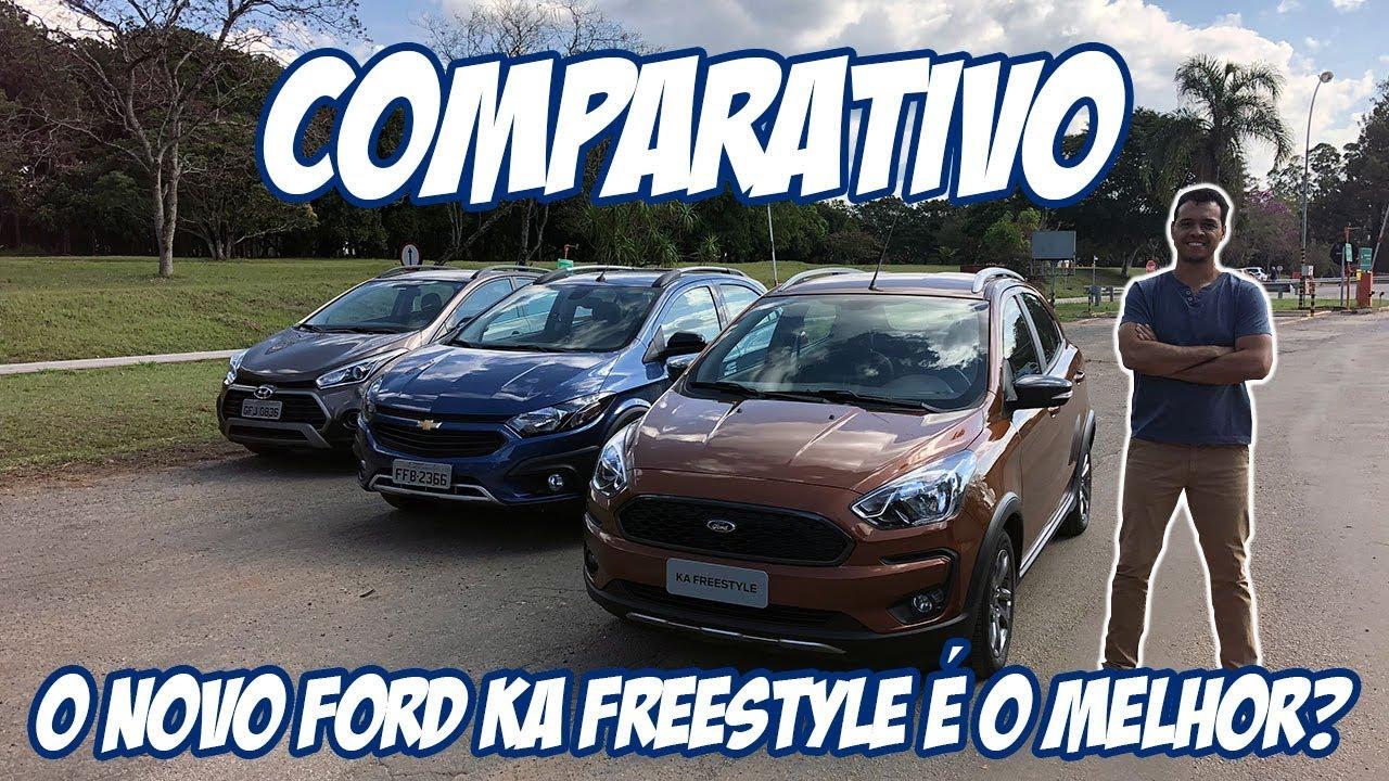 Comparativo Novo Ford Ka Freestyle Versus Chevrolet Onix Activ  E Hyundai Hbx