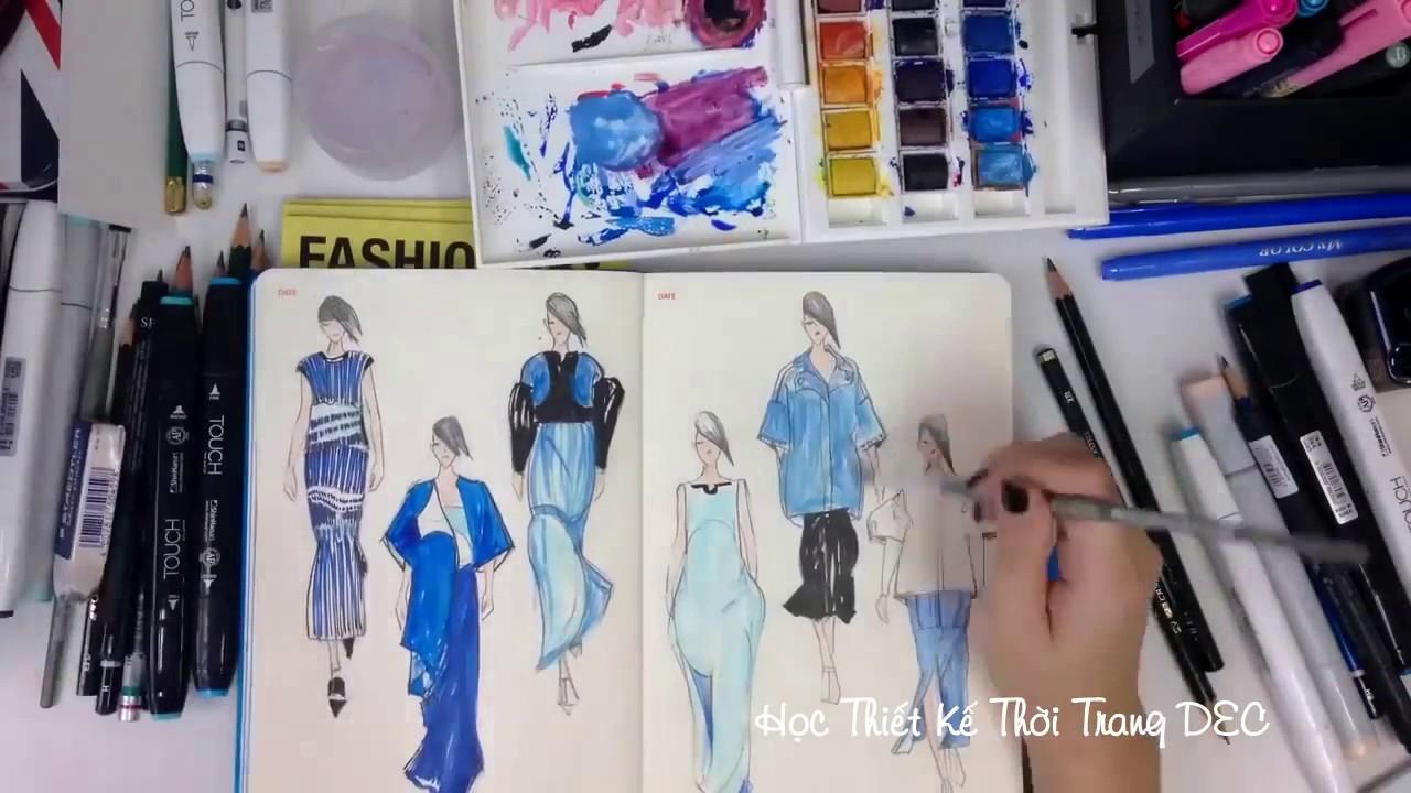 Học thiết kế thời trang – Vẽ ý tưởng trên giấy
