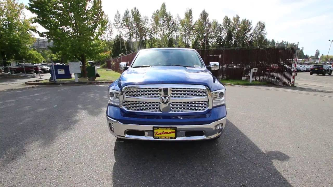 2017 dodge ram 1500 laramie blue streak hs529202 redmond seattle youtube. Black Bedroom Furniture Sets. Home Design Ideas