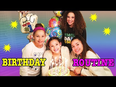 Birthday Routine! Sierra's 14th Birthday Surprise! (Haschak Sisters)