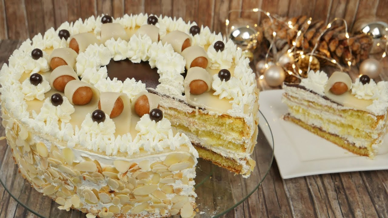 Festliche nougat marzipan torte marzipantorte dekorieren - Torten dekorieren mit marzipan ...