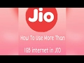 No 1GB Limit Use Jio This Trick
