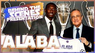 What you DIDN'T SEE at DAVID ALABA's Real Madrid PRESENTATION!