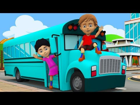 Wheels On The Bus | Kindergarten Nursery Rhymes For Children | Cartoon Videos by Kids Channel