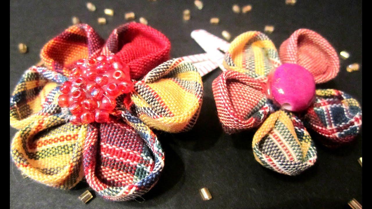 Tutorial flor de tela para el cabello japanese flower hair youtube - Flores de telas hechas a mano ...