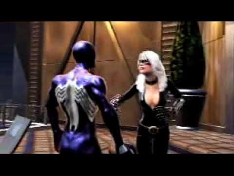 Latex man black suit spider