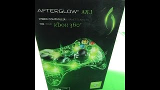P72017 - PDP - Afterglow AX.1 WIRED Controller (GLOWS BLUE) for Xbox 360 (NEW/SEALED)