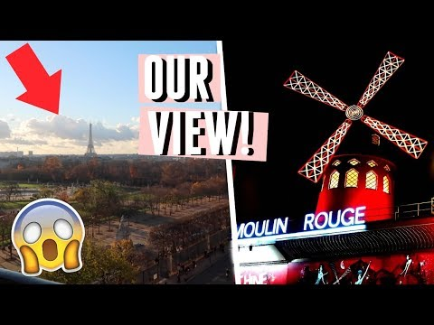 PARIS DAY 1! TRAVELLING, SHOPPING & SEEING MOULIN ROUGE!