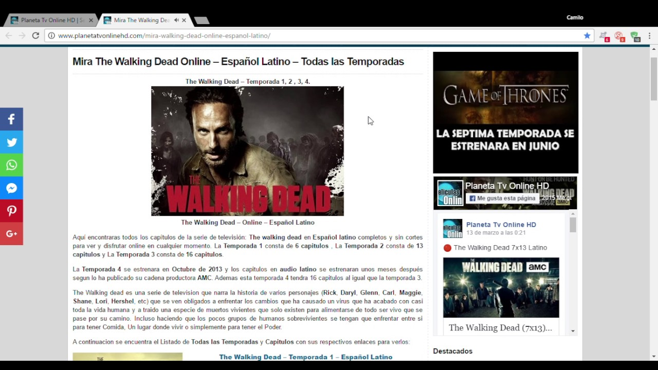 Mira The Walking Dead Online Español Latino Todas Las Temporadas Planeta Tv Online Hd Google Youtube