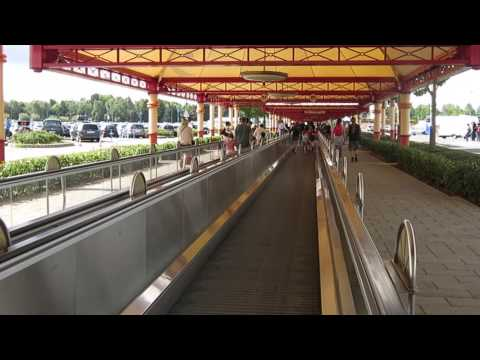 The Moving Walkway from Parking to Disneyland Paris Entrance