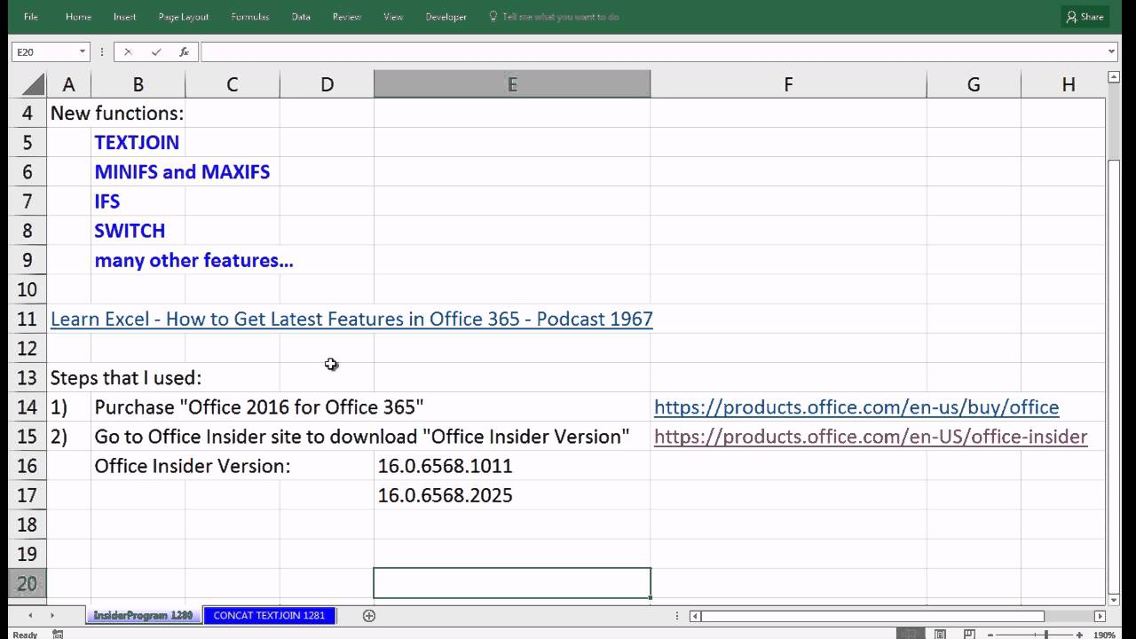 Excel Magic Trick 1280 How To Get Latest Excel Updates For Insider