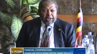 Uganda and South Sudan central banks sign M.O.U.