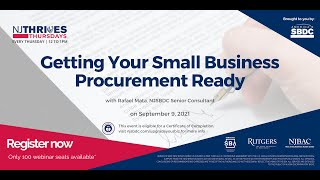 NJTT#018: Getting Your Small Business Procurement Ready
